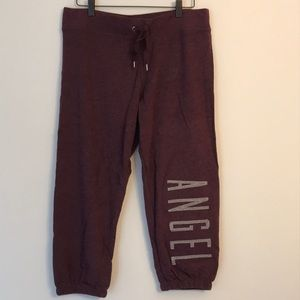 New in bag Angel crop sweat pants black orchid